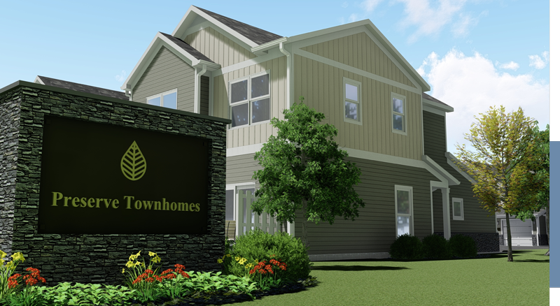 Rendering of Exterior Preserve Townhomes of Spring Lake